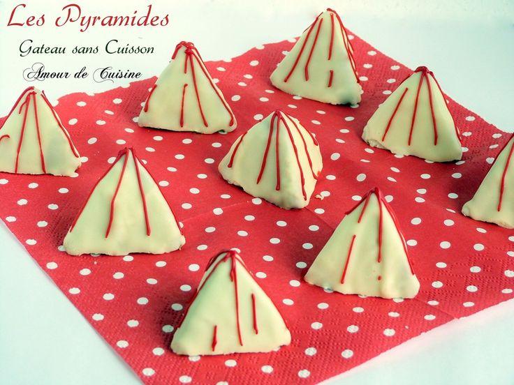 les pyramides - gateau sans cuisson, No bake algérien sweet so delicious with white chocolate.