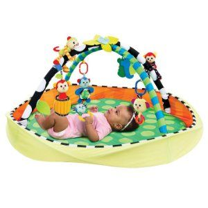 With various textures, bright colors and different sounds for baby to discover the SassyPop™ Play Pod is an excellent developmental playmat.