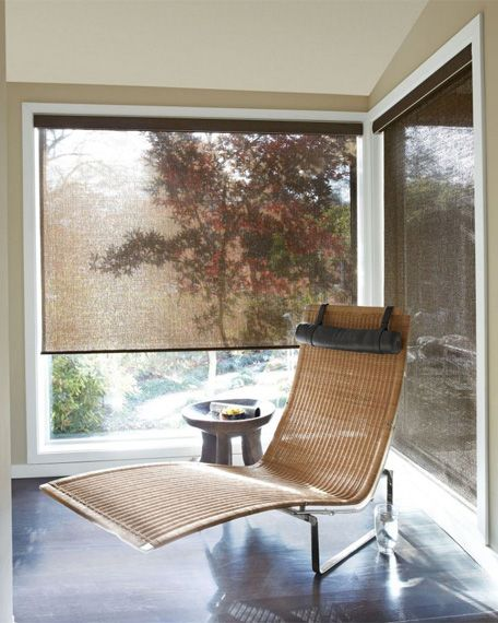 Solar Shades reduce glare, UV light and heat transfer - all while letting you enjoy your view. Select from three openness levels (3%, 5% and 10%) for the amount of light blocking you need.