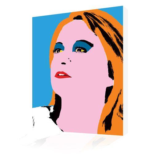 Photo to Canvas Woman's Portraits Andy Warhol twiggy Style