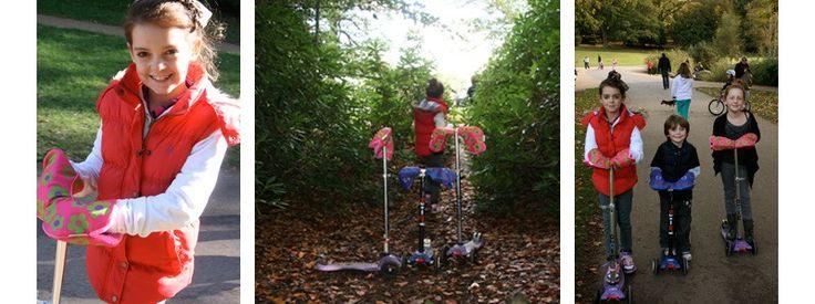 Autumn Scooting Adventures *** Ocieplacze Scooterearz montowane na uchwyt kierownicy to idealne rozwiązanie dla AktywnegoSmyka nie gustującego w rękawiczkach tudzież dla rodzica, który nie ma cierpliwości aby upakować wiercące się małe paluszki w odpowiednich rękawiczkowych mieszkankach ;-)  http://www.aktywnysmyk.pl/187-ocieplacze-scooterearz
