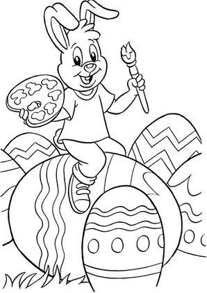 ostern zum ausmalen. ausmalbilder | malvorlagen | ostern | osterhase | kindergarten | os