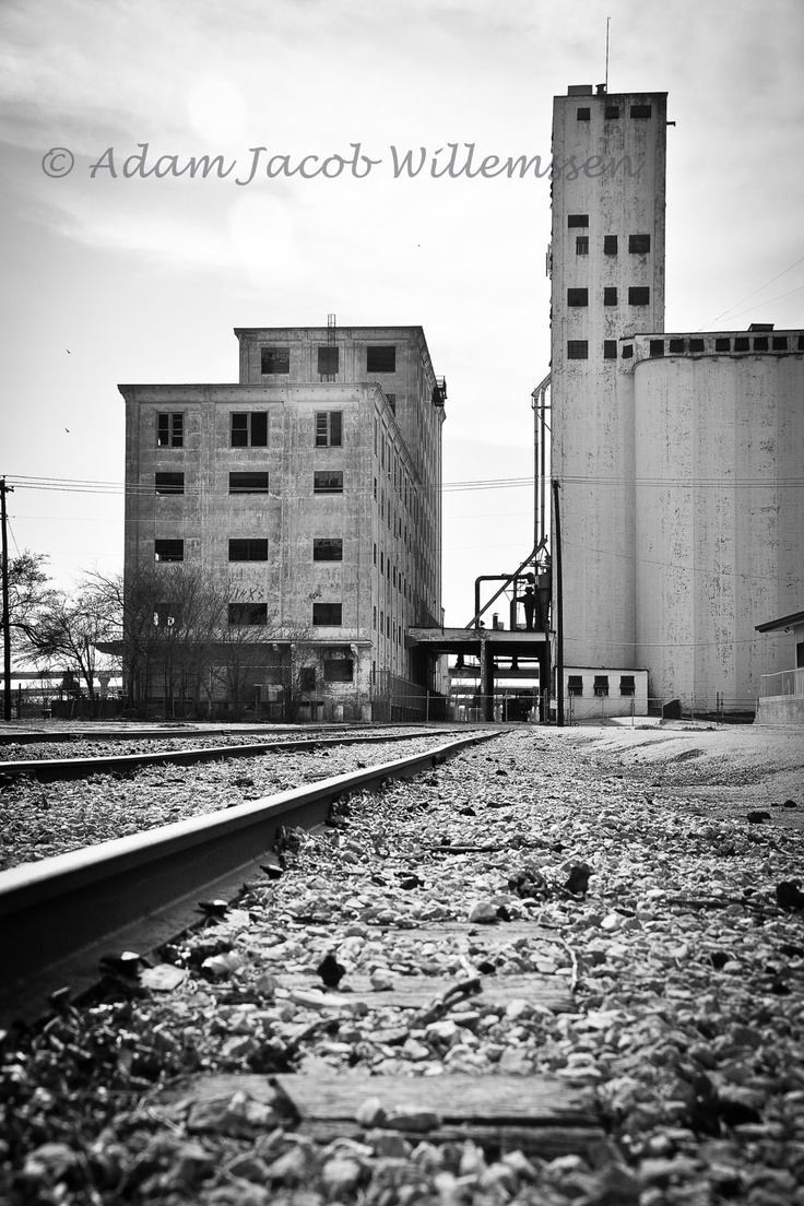 Industrial photo wichita falls texas black and white 4 x 6 print