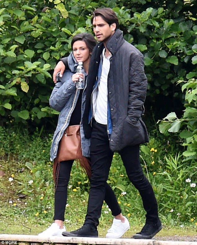 Close: Michelle Keegan cosied up to Mark Wright lookalike Luke Pasqualino while filming BBC drama, Our Girl, in Manchester during filming