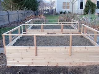 cedar raised vegetable garden beds