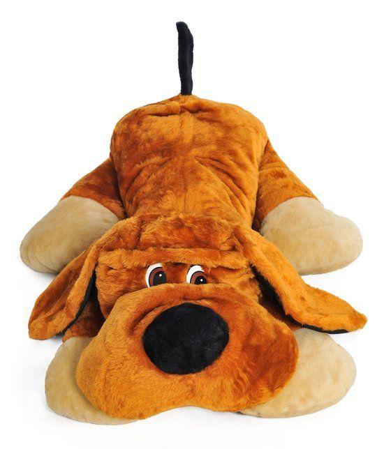 Grote knuffel hond 110 cm: Deze grote knuffel hond (110 cm) is een perfect kraamcadeau of verjaardagscadeau voor een peuter… #gadget #cadeau
