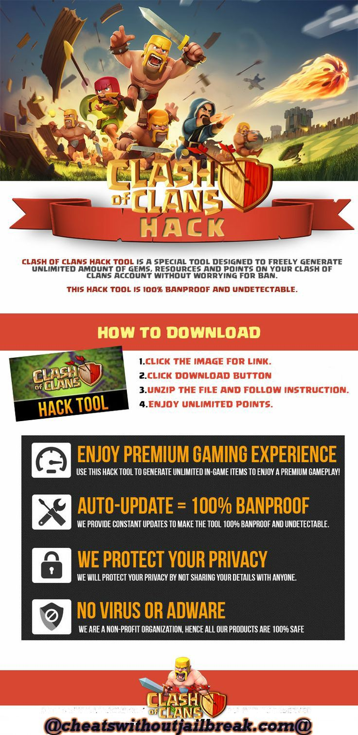 Clash of clans cheats hack unlimited gems