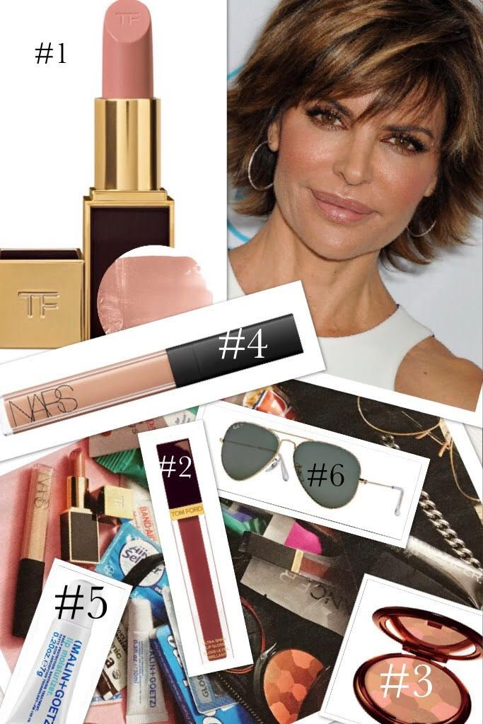 Lisa Rinna's Lipstick and Other Makeup Products Real Housewives of Beverly Hills Season 7 Makeup The name of Real Housewives of Beverly Hills star Lisa Rinna is synonymous one thing: her lips. They're big, blabby, and always beautifully coated in color. When she's not talking about Delilah Belle and Amelia Grey, Lisa Rinna dished to US Weekly about what's in her bag, where she mentions the covetable Tom Ford lipstick in... Read More