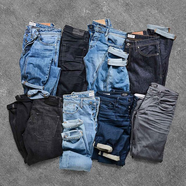 Recycled denim is part of our PROTECT initiative to reduce waste and lower our environmental impact. Jeans recycled and re-invented to give you the latest in denim innovation | JACK & JONES
