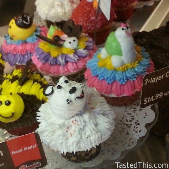 YUM!!! Cupcakes at Chompies Restaurant, Bakery, Deli, Catering, and Bagel Factory in Phoenix, AZ    4550 E Cactus Road Phoenix, AZ