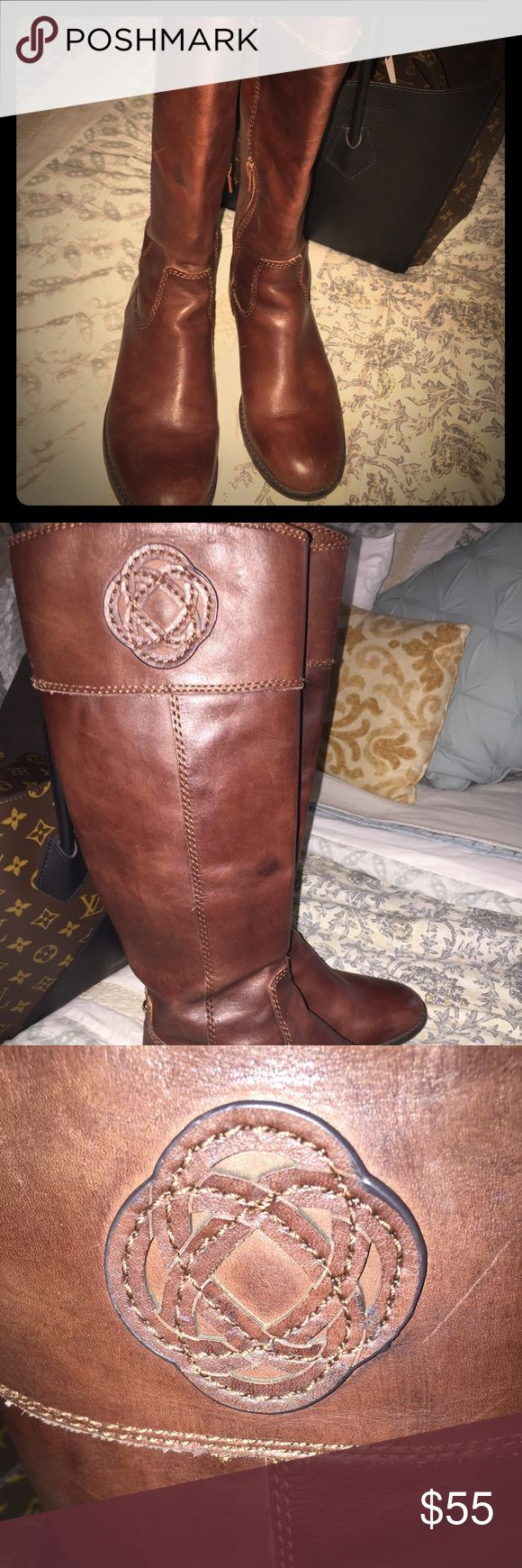 Lady's leather boots Antonio Melani lady's leather boots size 6 preloved very nice riding boots ANTONIO MELANI Shoes
