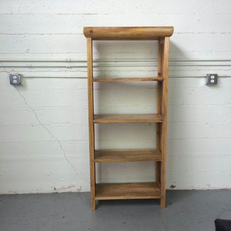 """Sederhana Bookcase """"C"""", made from salvaged wood found in Indonesia."""