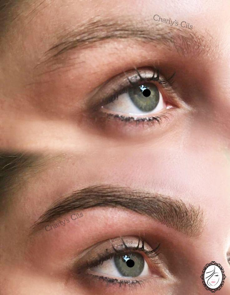 la teinture des sourcils une restructuration sur notre cliente est la solution parfaite - Coloration Sourcils Maison