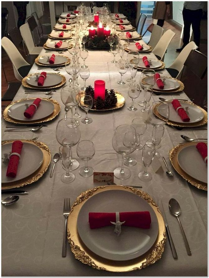 37 Best Christmas Table Decor Ideas For Christmas 2019 Where Traditions Meets Grandeur Christmas Table Christmas Table Decorations Christmas Dinner Table