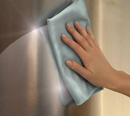 Microfiber Polishing Cloth Towel For Better Kitchen's Appearance. #kitchen #cleaner