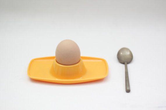 Vintage Retro Yellow Egg Cup - 70s – mid century - Italian