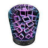 #3: Night light Aromatherapy Ultrasonic Essential Oil diffuser with 14 LED Color lighting options and Automatic shutoff 180mL-Doubles as a cool mist humidifier with unique 3D Effect