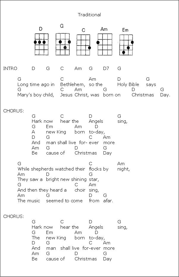 Christmas songs chords for