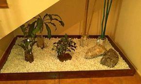 Jardin zen, debajo de la escalera interior