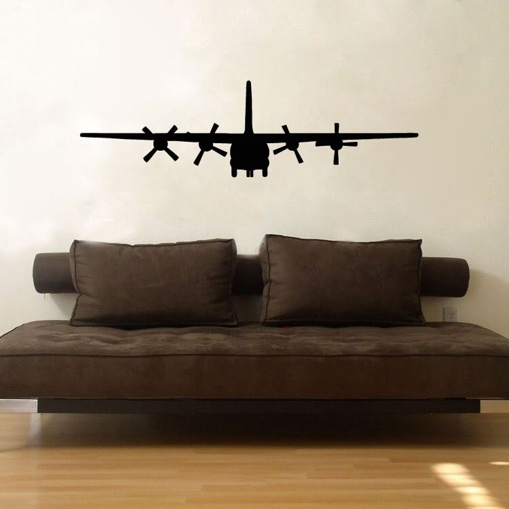 Military c130 cargo aircraft airplane vinyl wall window for Aviation wall mural