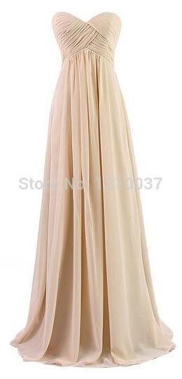 Real Picture Plus Size Long Gold bridesmaid dresses Wedding Party Dress Chiffon Back Zipper Prom Dress robe demoiselle d'honneur
