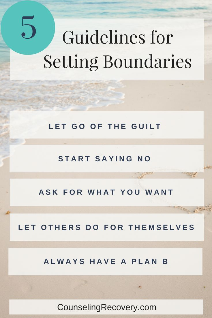 5 Guidelines You Need To Set Healthy Boundaries