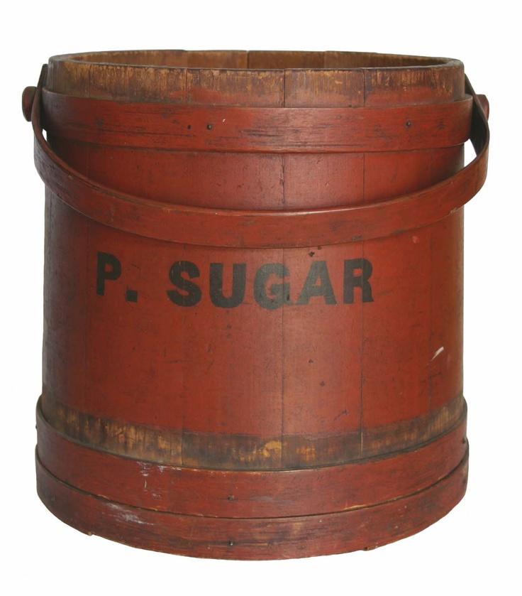 ~ A Vintage Sugar Canister ~Bowls Baskets, Antiques Buckets, Design Bedroom, Home Interiors, Bedrooms Interiors Design, Bucketsfirkinssugar Buckets, Vintage Sugar, Boxes Bowls, Design Concept