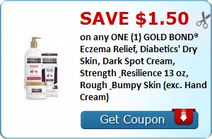 SAVE $1.50 on any ONE (1) GOLD BOND® Eczema Relief, Diabetics' Dry Skin, Dark Spot Cream, Strength & Resilience 13 oz, Rough & Bumpy Skin... : #CouponAlert, #Coupons, #Printablecoupons Check it out here!!