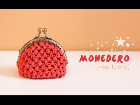 Monedero con punto garbanzo - Cómo hacer un monedero de ganchillo con boquilla | How to make a crochet purse