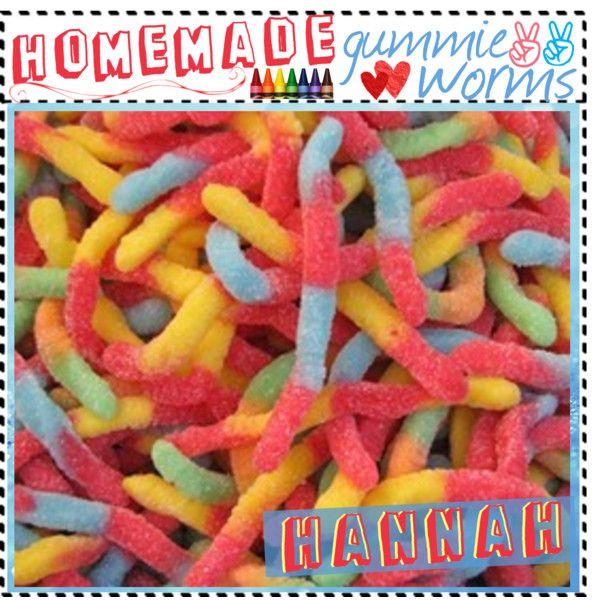 """""""Homemade Gummie Worms..."""" by thebestcookbook on Polyvore"""