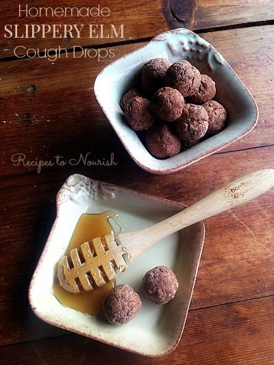 Homemade Slippery Elm Cough Drops ... helps calm pesky coughs, soothe irritations + moisten dry throats | Recipes to Nourish