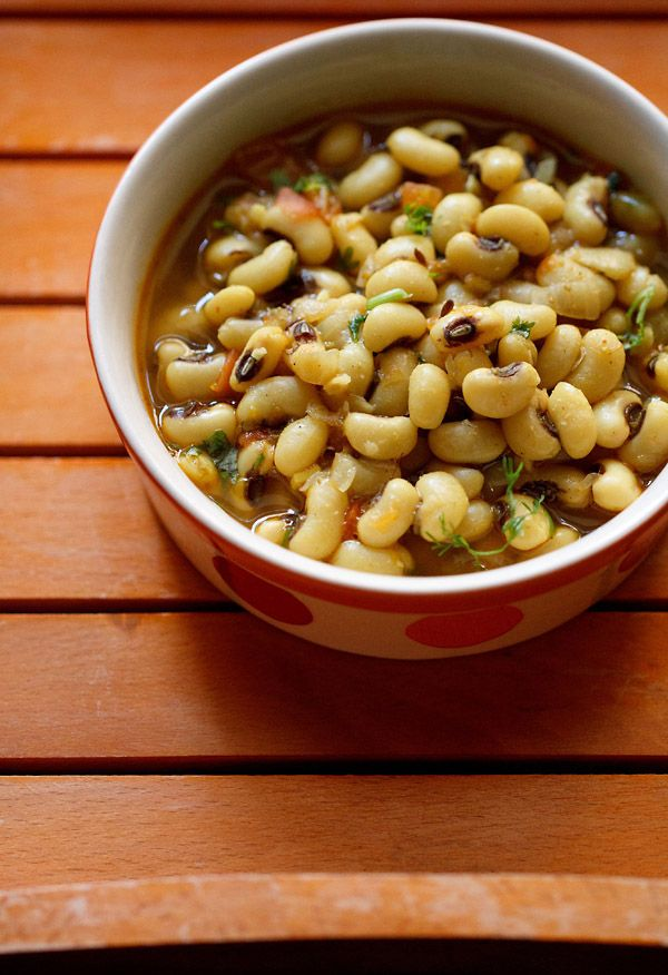lobia masala recipe. spiced black eyed peas curry from the punjabi cuisine.