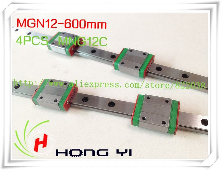 88.00$  Watch now - http://alifzf.worldwells.pw/go.php?t=886327495 - Square linear guide 2 X  MGN12 L=600mm with 4pcs MGN12C linear blocks(can be cut any length)