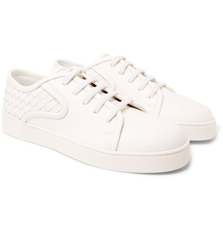 Who knew white sneakers could look as sophisticated as this? <a href='http://www.mrporter.com/mens/Designers/Bottega_Veneta'>Bottega Veneta</a>'s 'Dodger' pair has been constructed from buttery leather and detailed with signature intrecciato panels. They are partially lined in ventilating mesh for comfort and set on chunky rubber soles that ensure a solid grounding on slippery city sidewalks.