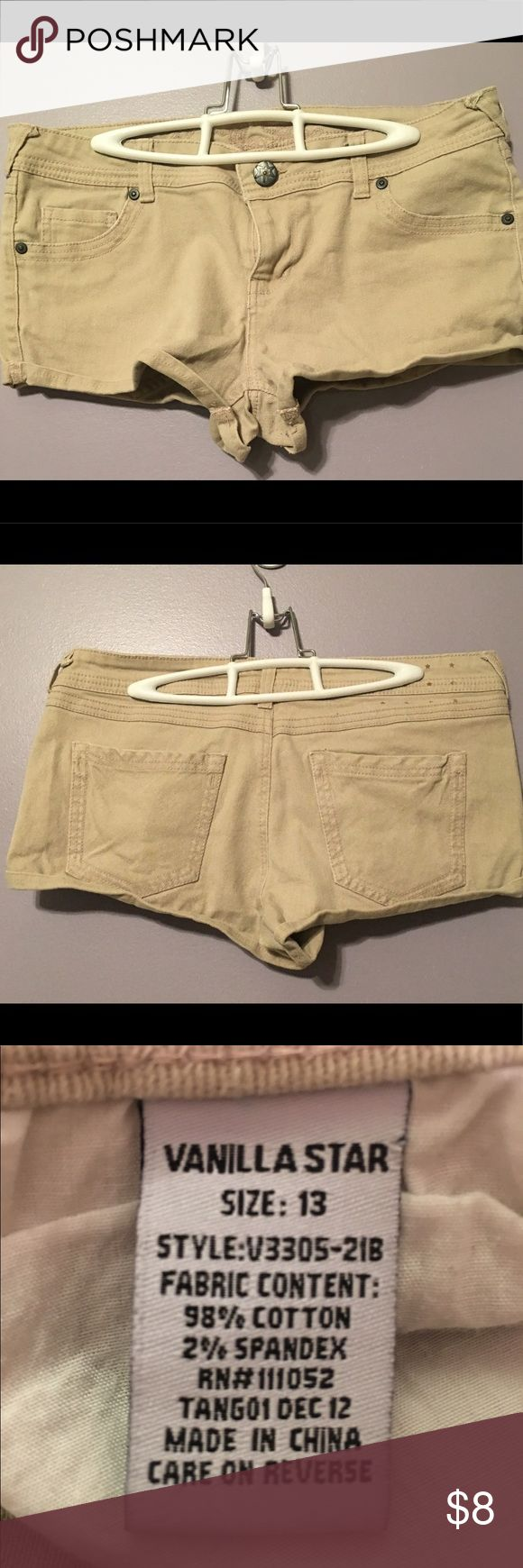 Shorts Tan jean like short shorts. Gently used still in great condition. Perfect for summer! Vanilla Star Shorts