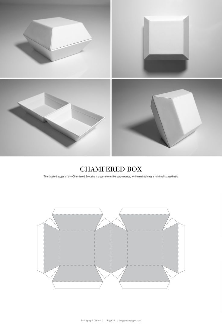Chamfered Box – structural packaging design dielines