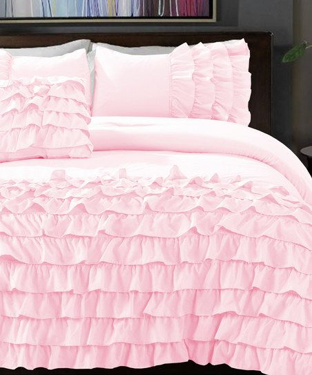 Powder Pink Flamenco Taylor Comforter Set