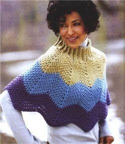 As Receitas de Crochê: Pelerine de crochê em ponto zigzag