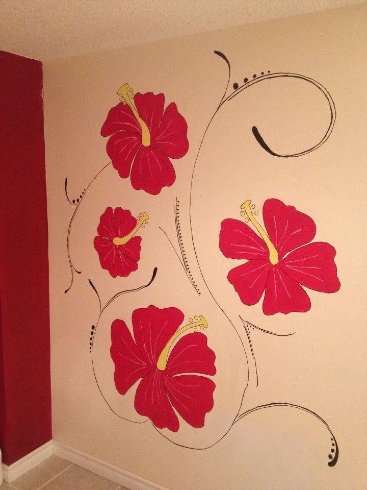 This mural was created in my friends bathroom, thanks for looking! Check out my page on facebook at Caught Your Eye Murals