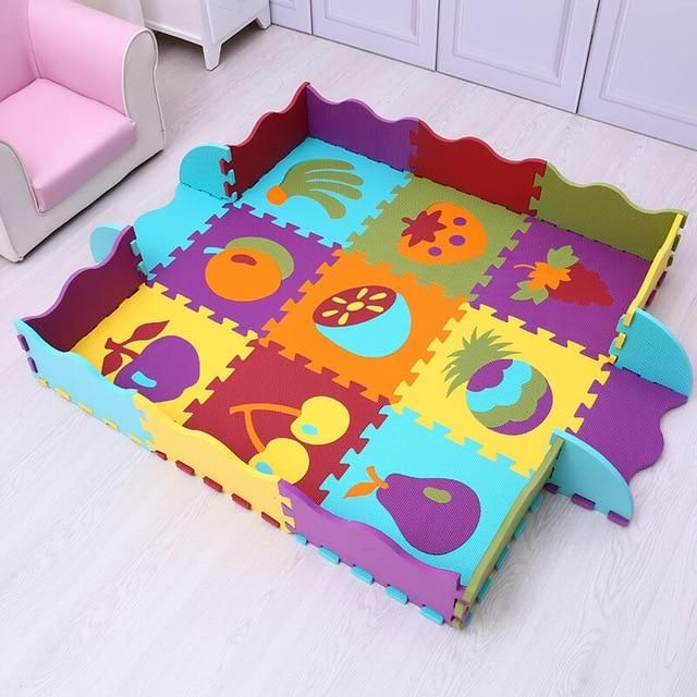 Baby Kid Play Mat Toddler Play Crawl Carpet PE Cotton Soft Game Blanket Rug US