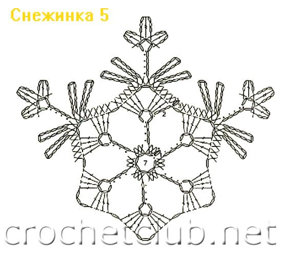 Free Snowflake Crochet Diagram