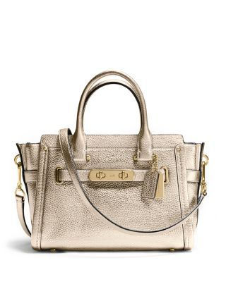 COACH Pebbled Leather Coach Swagger 27. #coach #bags #shoulder bags #hand bags #leather #lining #