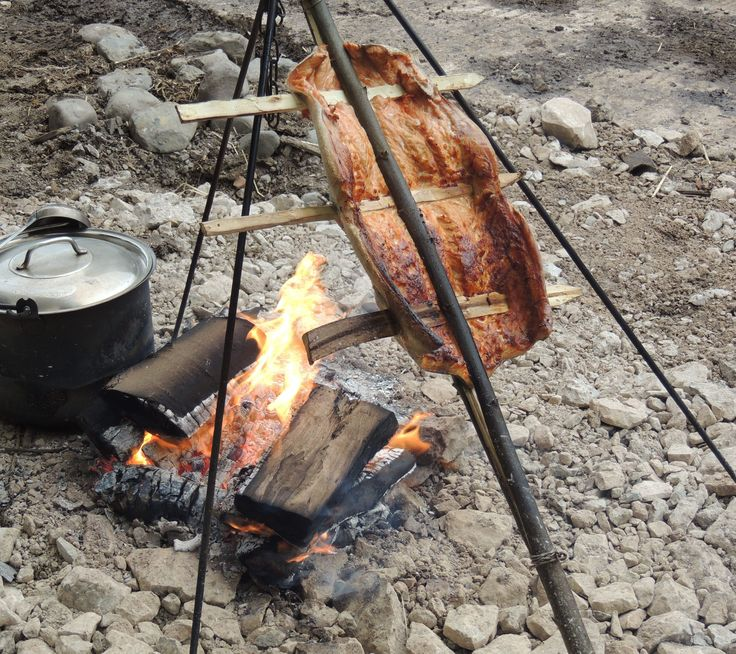 On one of our Bushcraft days at Humblescough Farm Mike taught us how to cook salmon over an open fire. It was the most delicious salmon I have ever tasted!