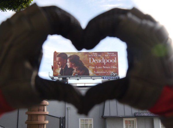 New Deadpool poster actually being used on billboards