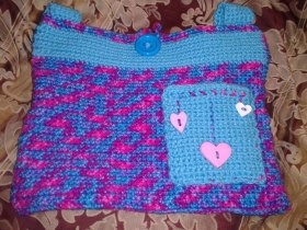 Crochet Walker Tote Bag with Pocket by PursuingCraftiness ...