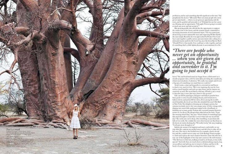 Изабель Лукас на обложке Vogue Австралия, Buro 24/7