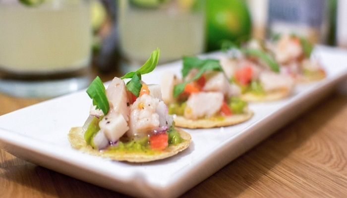 """Like carpaccio, ceviche (pronounced seh–vee–chay) is a raw fish dish. It is essentially fish """"cooked"""" in the acid of citrus juice."""