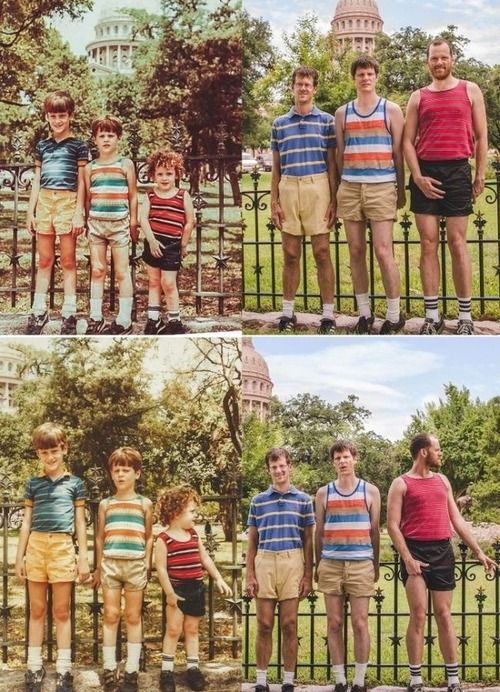 This may be the best of the recreated family photos series. I think i know what mom is getting for her bday