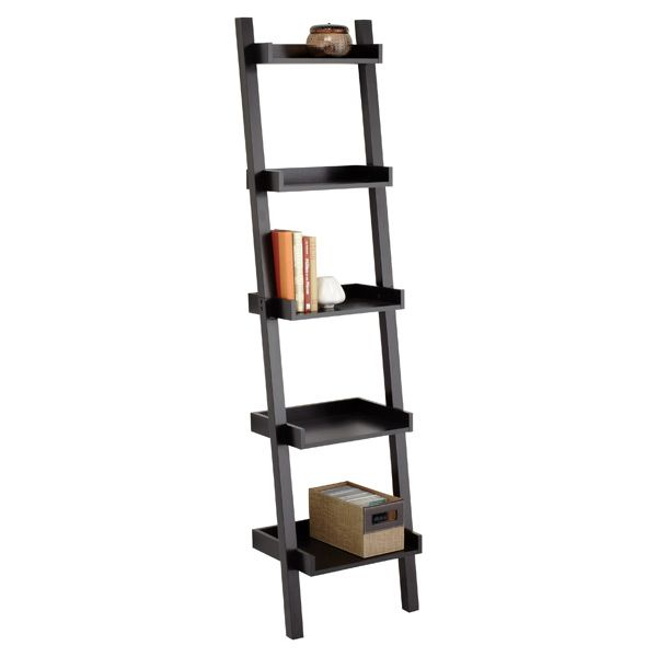 Wonderful Jacob Ladder With Baskets  Leaning Ladder Shelf  HomeDecoratorscom