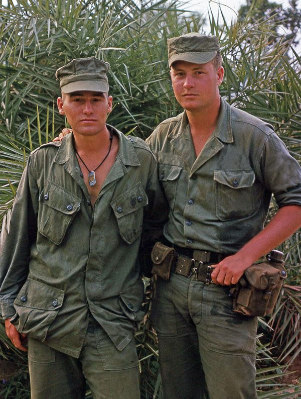 Army and Marines teaming up in Vietnam outside Da Nang. Dennis R Decker, 3rd Marine Div., 3rd Recon, Charlie Company and Jeff Daley, MACV-SOG.